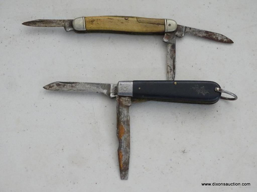 Lot Of 2 Vintage Folding Pocket Knives 1 Camco 2 Blade Barlow Style Pocket Knife Model 229 Estate Personal Property Auctions Online Proxibid