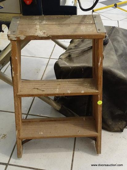 WERNER STEP LADDER; WERNER 3 FT STEP LADDER. GREAT FOR REACHING CABINETS IN THE SHOP AND MORE!