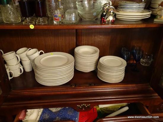 (DR) LOT; INCLUDES A BEGINNING SET OF CHINA TO INCLUDE 58 PIECES TOTAL BY TOTALLY TODAY CHINA WITH