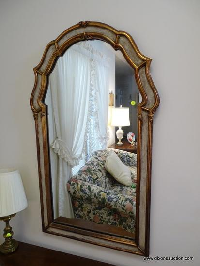(LR) MIRROR; GOLD EDGE AND PAINTED MIRROR- 25 IN X 43 IN