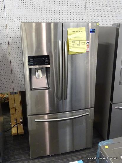 Samsung 22-cu ft 3-Door Counter-Depth French Door Refrigerator with Ice Maker (Stainless Steel)
