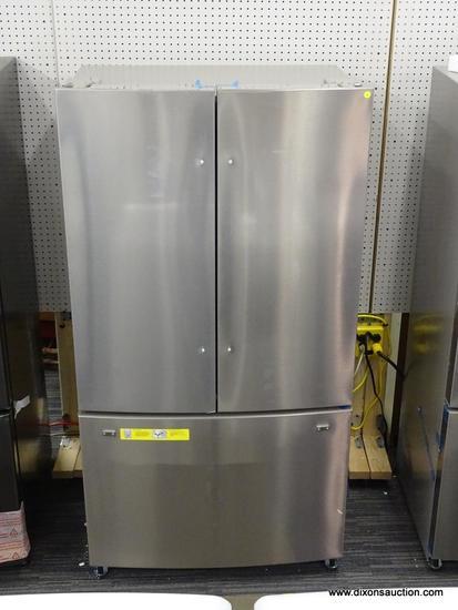 Frigidaire 22.4-cu ft 3-Door Counter-Depth French Door Refrigerator with Ice Maker