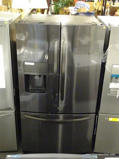 Frigidaire 26.8-cu ft 3-Door Standard-Depth French Door Refrigerator with Ice Maker (Black Stainless