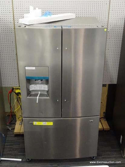Frigidaire 21.7-cu ft 3-Door Counter-Depth French Door Refrigerator with Ice Maker