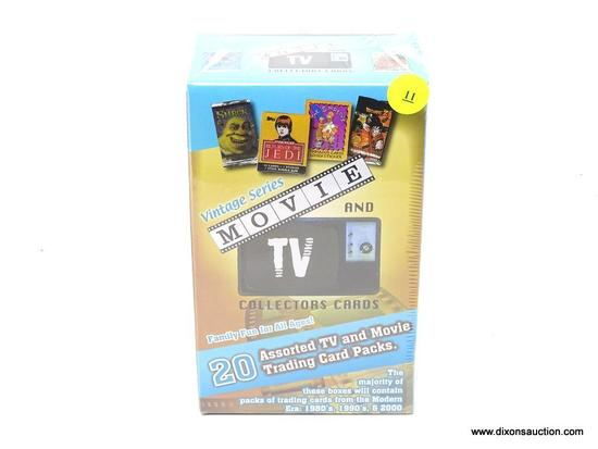 MOVIE AND TV COLLECTORS CARDS; VINTAGE SERIES MOVIES AND TV COLLECTORS SERIES WITH 20 ASSORTED TV