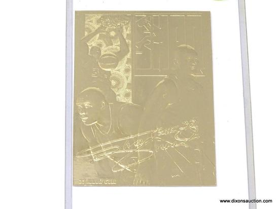 SHAQUILLE O'NEAL GOLD CARD; SHAQUILLE O'NEAL #32 23 KT GOLD CARD. COMES IN PLASTIC CASE.