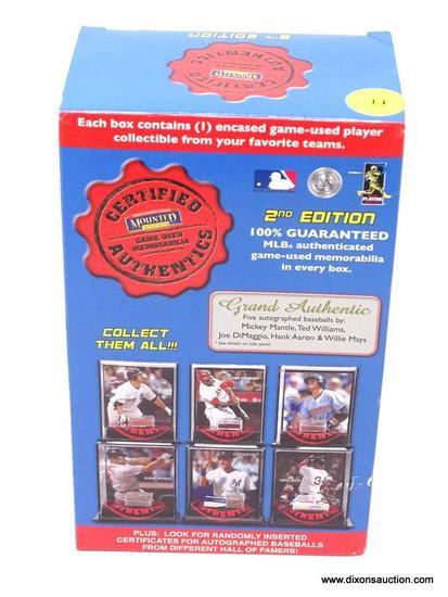 MLB AUTHENTICATED GAME-USED MEMORABILIA; MLB AUTHENTICATED GAME-USED MEMORABILIA 2ND EDITION BOX.