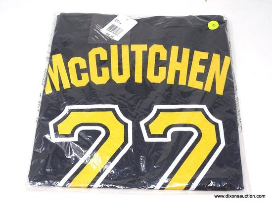 MCCUTCHEN T-SHIRT; MCCUTCHEN PIRATES #22 T-SHIRT. BRAND NEW IN ORIGINAL PACKAGING.