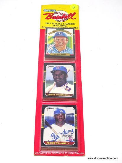 1987 DONRUSS CARDS; DONRUSS BASEBALL 1987 PUZZLE AND CARDS FEATURING: ROBERTO CLEMENTE PUZZLE.
