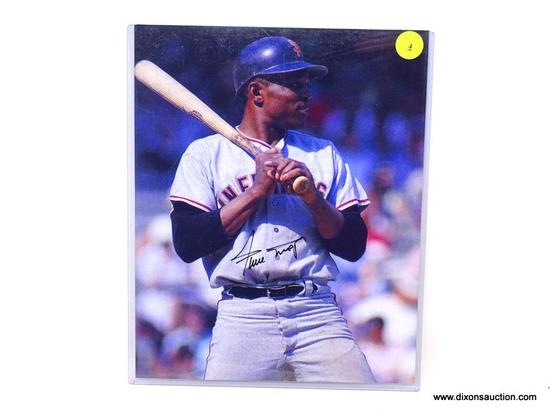 WILLIE MAYS AUTOGRAPHED 8 X 10; WILLIE MAYES SAN FRANCISCO GIANTS MLB HALL OF FAMER COLORED 8 X 10.