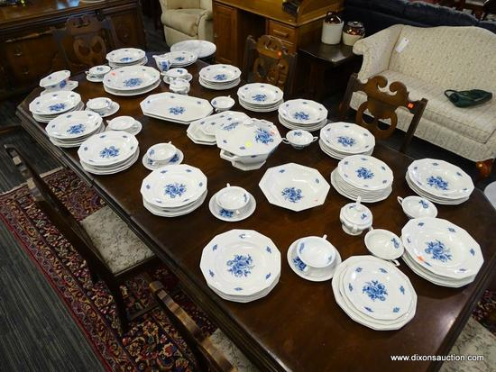 (R1) LOT OF ROSENTHALE SELB GERMANY MARIA BLUE FLORAL CHINA; 104 PIECE SET OF ROSENTHAL CHINA TO