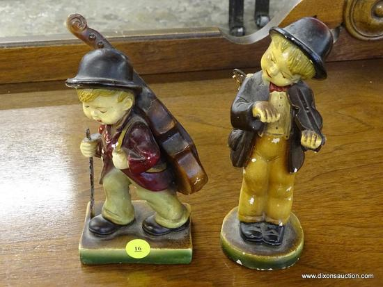 LOT OF ANTIQUE DEVON WARE FIGURINES; 2 PIECE LOT OF HAND CRAFTED DEVON WARE FIGURINES TO INCLUDE 1