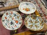 LOT OF DECORATED WARE; 3 PIECE LOT OF DECORATED WARE TO INCLUDE 2 DAHER DECORATED WARE SERVING BOWLS