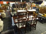 CHERRY DINING ROOM SET; 5 PIECE LOT OF CHERRY ROOM DINING ROOM PIECES TO INCLUDE A DINING ROOM TABLE