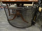 FIREPLACE COVER; METAL FIREPLACE COVER WITH EASY REMOVABLE COVER AND COMES WITH METAL POKER, SHOVEL,