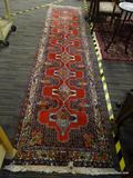 HAND KNOTTED HALLWAY RUG; HAND KNOTTED HALLWAY RUG WITH COLORFUL BIRDS AND FLOWERS DESIGNED