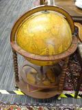 GLOBE PORTABLE MINI BAR; MINI BAR LIFT TOP GLOBE, GOPLUS WOOD GLOBE WINE BAR STAND 16TH CENTURY