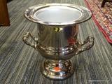 STAINLESS STEEL ICE BUCKET; STAINLESS STEEL ICE BUCKET WITH REMOVABLE BUCKET AND 2 DECORATIVE