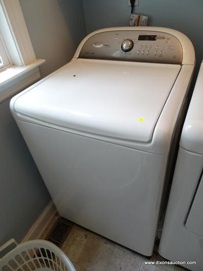 (LAUNDRY RM) WASHER; WHIRLPOOL CABRIO PLATINUM WASHING MACHINE, ECO MONITOR AND H2LOW WASH SYSTEM-