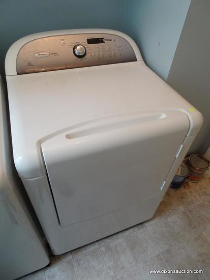 (LAUNDRY RM) DRYER; WHIRLPOOL CABRIO PLATINUM DRYER, ECO MONITOR AND SENSOR DRYING- MODEL NUMBER-