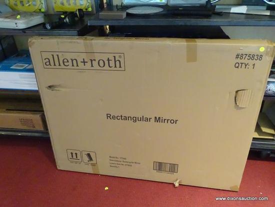 ALLEN ROTH RECTANGULAR MIRROR, SEALED IN BOX, BOX HAS EXTERIOR DAMAGE. MODEL 173442
