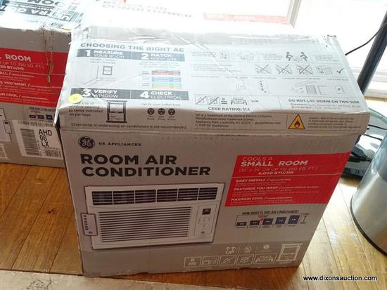 GE SMALL ROOM AIR CONDITIONER IN ORIGINAL BOX. THE BOX IS OPENED, THE ITEM IS NEW.