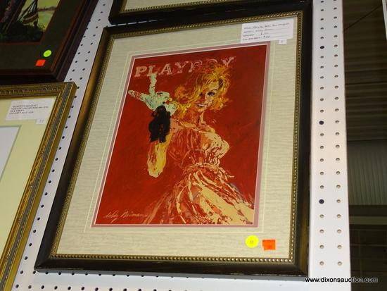 GICLEE PLAYBOY COVER PRINT; PLAYBOY COVER GICLEE PRINT OF ANN MARGARET BY LEROY NEIMAN. SIGNED BY