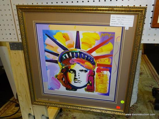 "GICLEE LADY LIBERTY FRAMED PRINT; ""LIBERTY GHOST"" GICLEE PRINT BY PETER MAX OF THE STATUE OF LIBERTY"