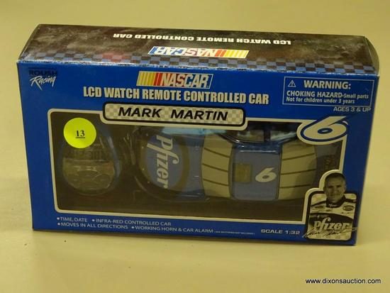 NASCAR REMOTE CONTROLLED CAR; ROUSH RACING, NASCAR'S MARK MARTIN #6 LCD WATCH REMOTE CONTROLLED CAR.