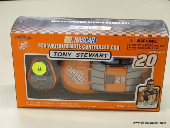 NASCAR REMOTE CONTROLLED CAR; ROUSH RACING, NASCAR'S TONY STEWART #20 LCD WATCH REMOTE CONTROLLED
