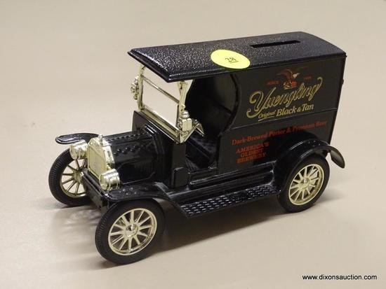 YUENGLING FORD COIN BANK; YUENGLING COIN BANK IN THE SHAPE OF REPLICA 1912 FORD OPEN FRONT PANEL