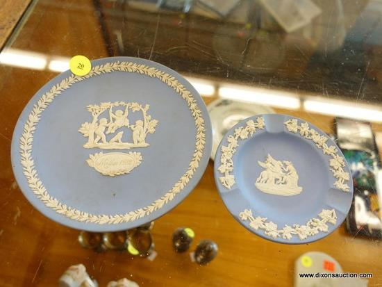 (R1) LOT OF WEDGWOOD PLATES; 2 PIECE LOT OF WEDGWOOD PLATES TO INCLUDE A BREAD AND BUTTER PLATE WITH