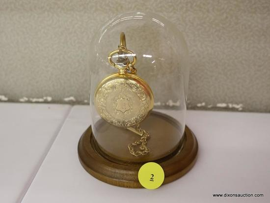 (SHOW) VINTAGE BELLE LUISSE POCKET WATCH; SWISS MADE GOLD TONE 17 JEWEL POCKET WATCH WITH