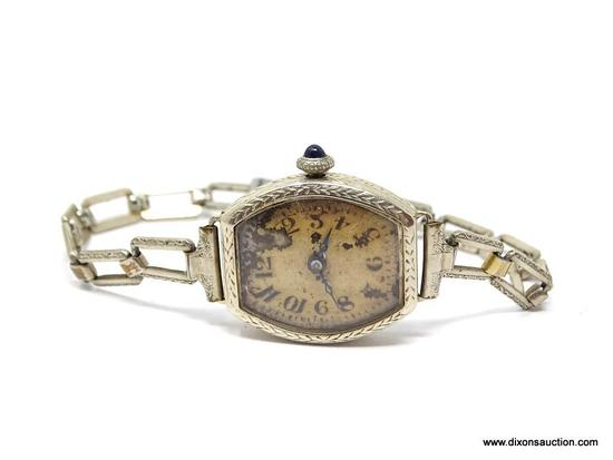 VINTAGE LADIES 14KT GOLD WATCH; 16 JEWELS, SWISS MADE ORVIN MOVEMENT. 14 KT GOLD EMCO ETCHED WATCH
