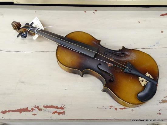 SEBASTIAN GOTZ CONSERVATORY VIOLIN; STRADIVARIUS COPY WITH AN EBONY FINGERBOARD. MEASURES 14 IN
