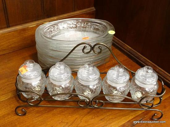 (R1) FANTASIA PRINCESS HOUSE KITCHENWARE; TWO PIECE LOT TO INCLUDE AN EIGHT PIECE SET OF FINE