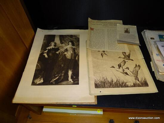 (R1) R H PALENSKE DUCK STAMP PRINT AND AN ANTHONY VAN DYCK LORD GEORGE DIGBY AND WILLIAM RUSSELL