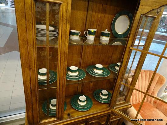 (WINDOW) SET OF RETRONEU IMPERIAL COLLECTION MALACHITE 488 CHINA; LOT INCLUDES 7 DINNER PLATES, 7