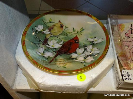 "(WINDOW) LENOX NATURE'S COLLAGE COLLECTABLE PLATE; ""SPRING'S COURTSHIP"" 1993 DECORATIVE PLATE BY"