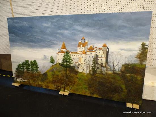 CASTLE IS BEING REPAIRED, HAS WELL/PIT? ON THE BOTTOM LEFT, SEASON IS LATE AUTUMN/EARLY WINTER.