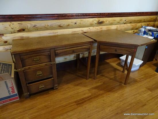 (BOFF) WINDJAMMER BY MALIN FRENCH AMERICAN 2 PC. DESK; INCLUDES KNEE HOLE & CORNER PIECE. FOUR