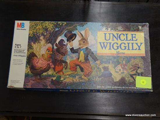 "(WINDOW) VINTAGE MILTON BRADLEY ""THE UNCLE WIGGLY GAME""; 1988 THE UNCLE WIGGLY GAME WITH ORIGINAL"