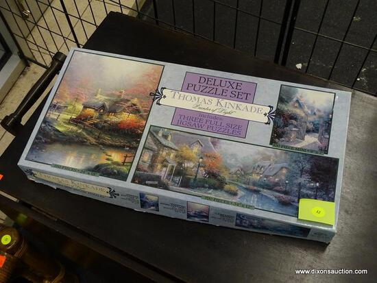 (WINDOW) CEACO THOMAS KINKADE DELUXE PUZZLE SET; DELUXE PUZZLE SET ENTITLED THOMAS KINKADE; PAINTER