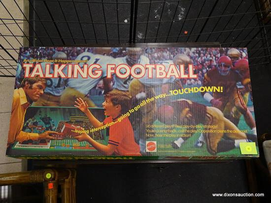 (WINDOW) MATTEL TALKING FOOTBALL HEAR-IT-HAPPEN GAME; OFFICIAL 1971 HEAR-IT-HAPPEN TALKING FOOTBALL