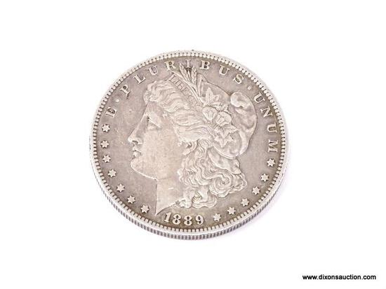 1889-0 MORGAN SILVER DOLLAR.