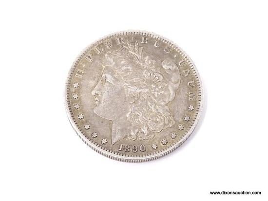 1890-S MORGAN SILVER DOLLAR.