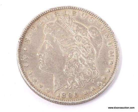1896-P MORGAN SILVER DOLLAR.