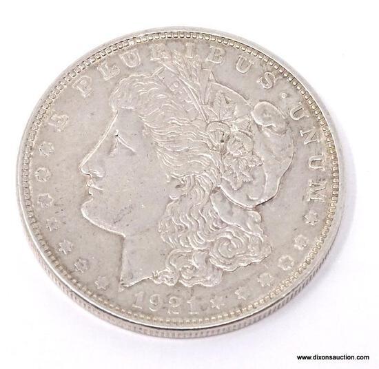 1921-P MORGAN SILVER DOLLAR.