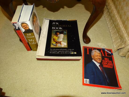 "(LR) LOT OF ASSORTED POLITICAL BOOKS; LOT TO INCLUDE ""LIVING HISTORY"" BY HILLARY RODHAM CLINTON, ""MY"