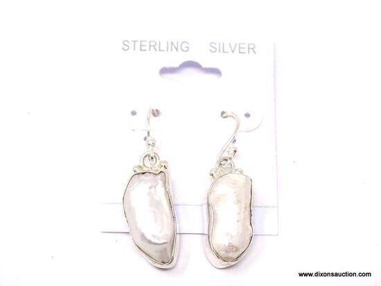 .925 RIVER PEARL EARRINGS; GORGEOUS NEW AAA WHITE RIVER PEARL EARRINGS. RETAIL PRICE $49.00